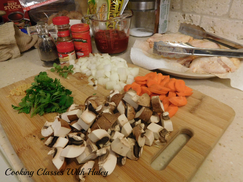 Mise En Place - Cayenne Braised Chicken Thighs