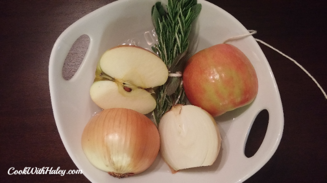 How to Roast a Brined Turkey - aromatics