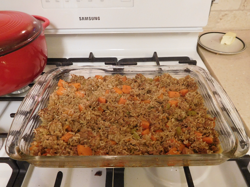 Pumpkin Rice Dressing – Casserole