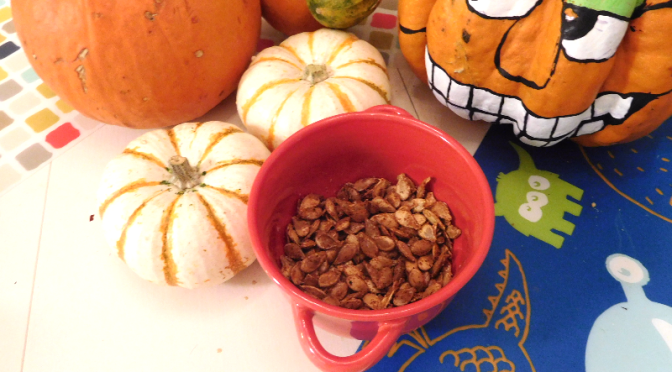 Roasted Pumpkin Seeds, A.K.A. Pepitas