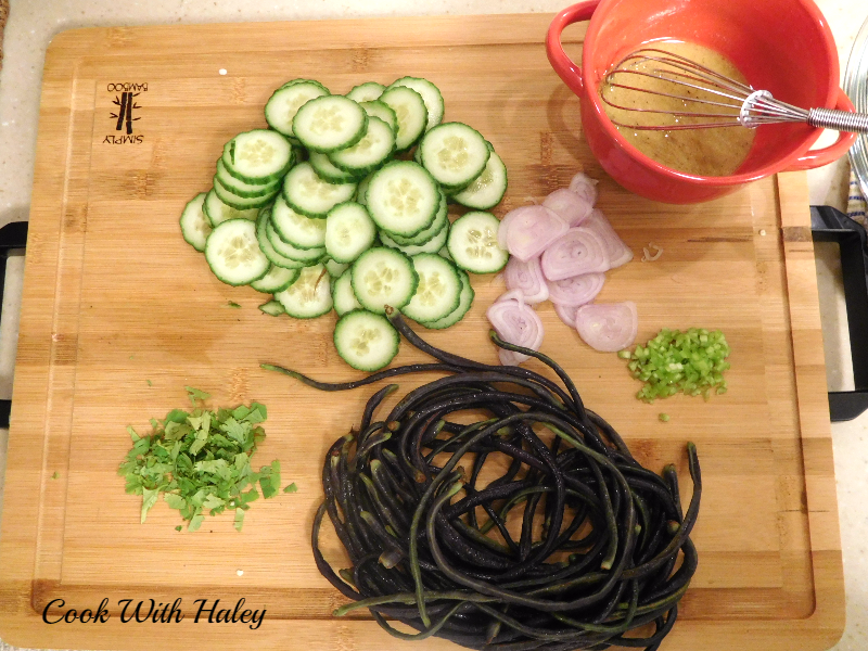 Purple Long Bean Salad – Mise en Place