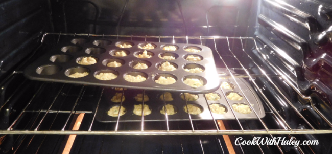 Mini Smoked Cheddar Cornbread Muffins cooking