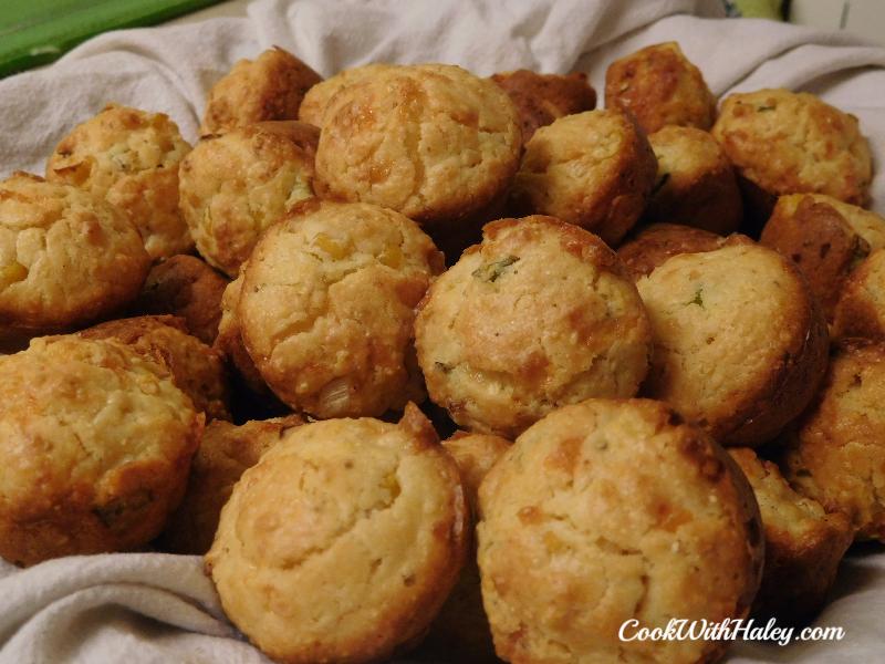 Mini Smoked Cheddar Cornbread Muffins