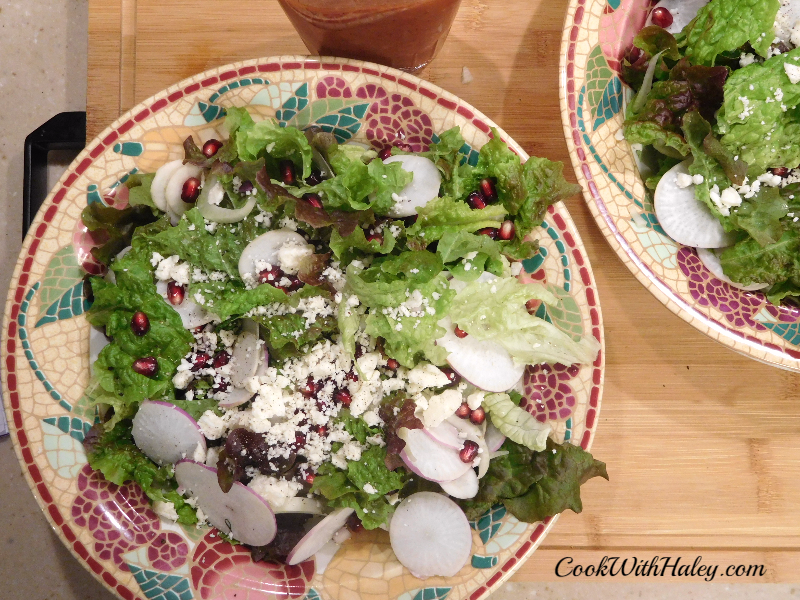 Turnip and Pomegranate Winter Salad