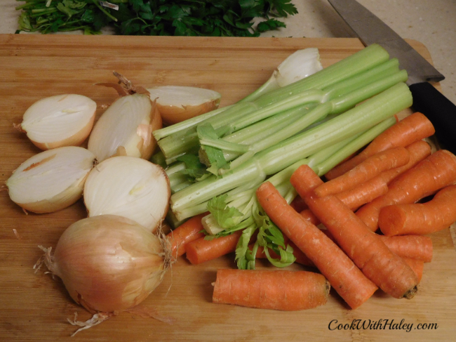 Chicken Stock Mise en Place