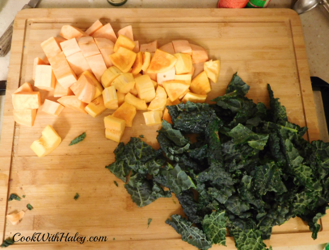Earthy Indian Kale Casserole Vegetables
