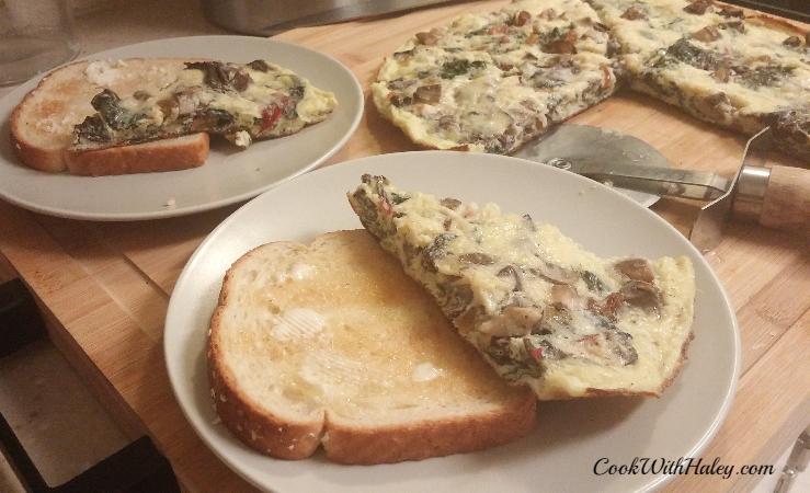 Chard and Mushroom Frittata Family Style
