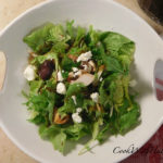 Dear tongue lettuce and arugula salad with honey dijon balsamic vinaigrette