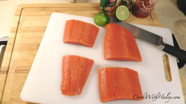 Spicy Mango Chutney and Lime Glazed Salmon