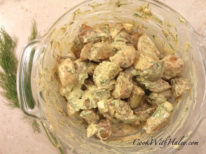 Spicy Dill and Dijon Potato Salad
