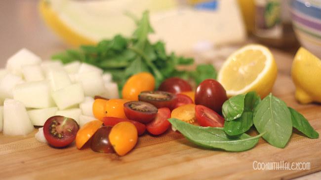 honeydew melon salad 1