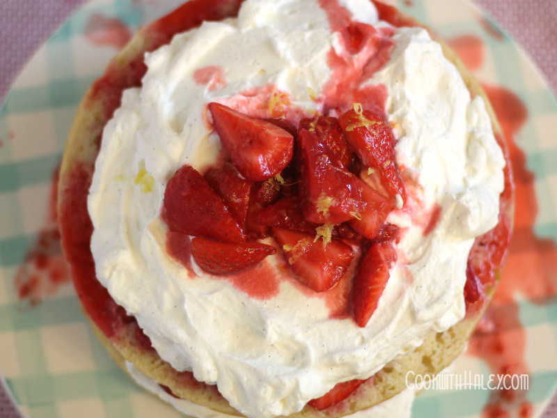 Minty Strawberry and Raspberry Shortcake